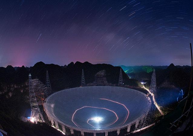 FAST, radiotelescopio más grande del mundo, construido en la provincia de Guizhou, suroeste de China