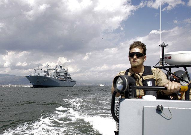 Las fuerzas de la OTAN en el mar Egeo