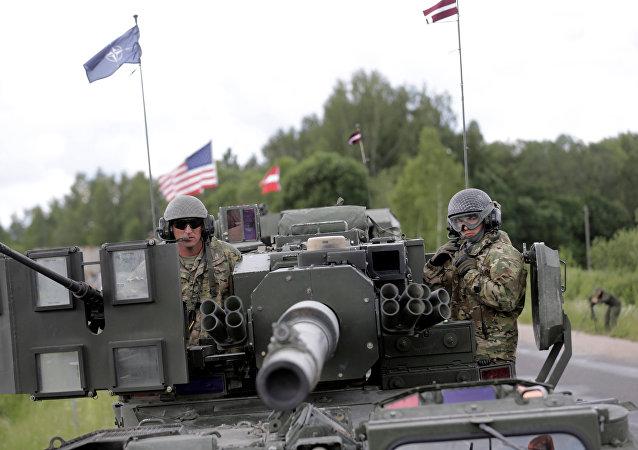 Las Fuerzas de la OTAN en Letonia