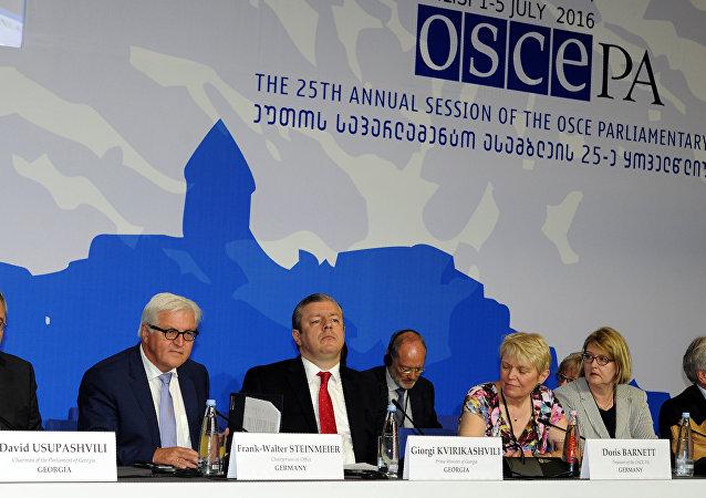 La sesión de la Asamblea Parlamentaria de la OSCE en Tiflis, Georgia