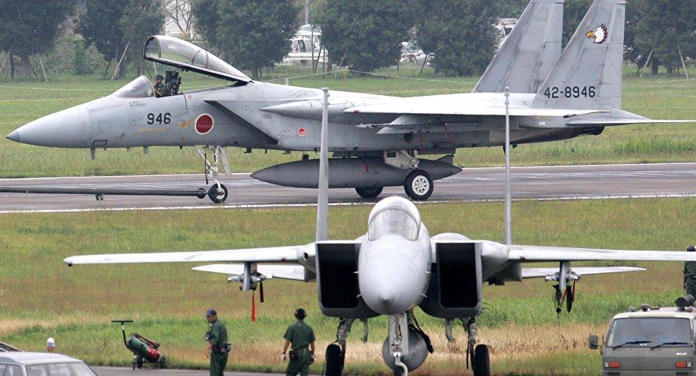 Cazas F-15 de Japón