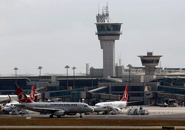 El aeropuerto Ataturk en Estambul, Turquía