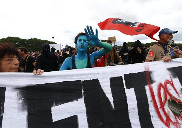 Manifestaciones en Francia en contra de la reforma laboral