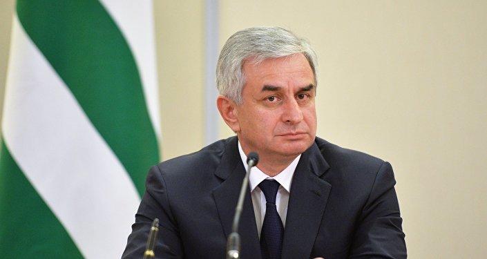 El presidente de Abjasia, Raúl Jadzhimba,