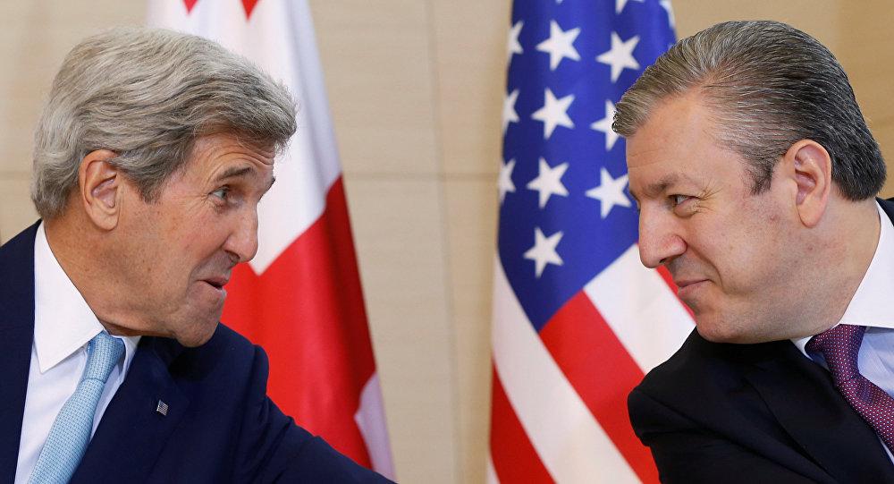 Secretario de Estado de EEUU, John Kerry, y primer ministro de Georgia, Georgy Kvirikashvili