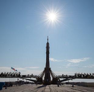 La nave tripulada Soyuz MS (archivo)