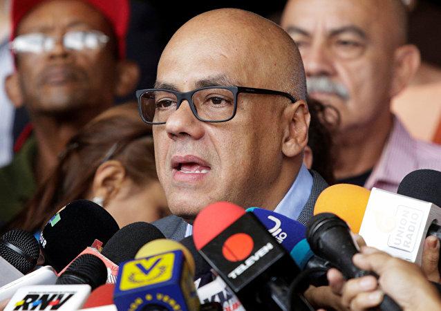 Jorge Rodríguez, el ministro de Comunicación e Información