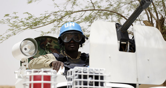 Un soldado de la ONU en la ciudad maliense de Kidal