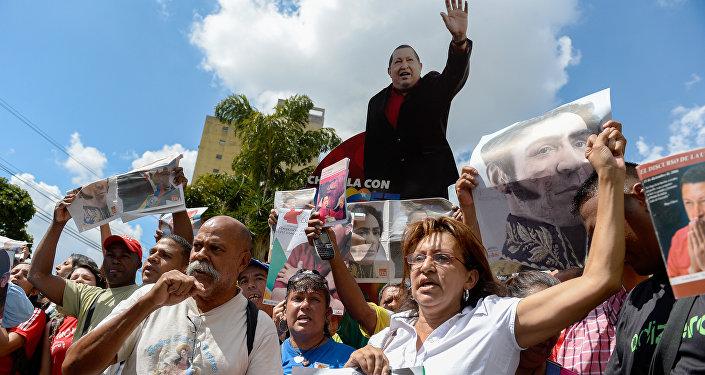 Partidarios del partido venezolano PSUV