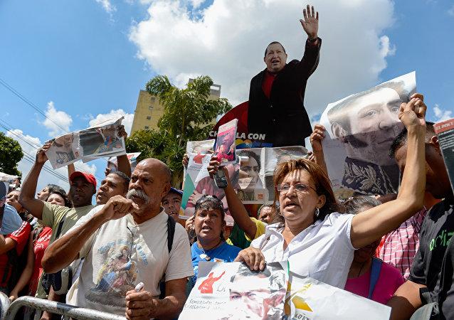 Partidarios del partido venezolano PSUV (archivo)