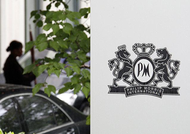 El logo de la compañía Philip Morris