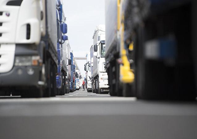 Paro camionero (archivo)