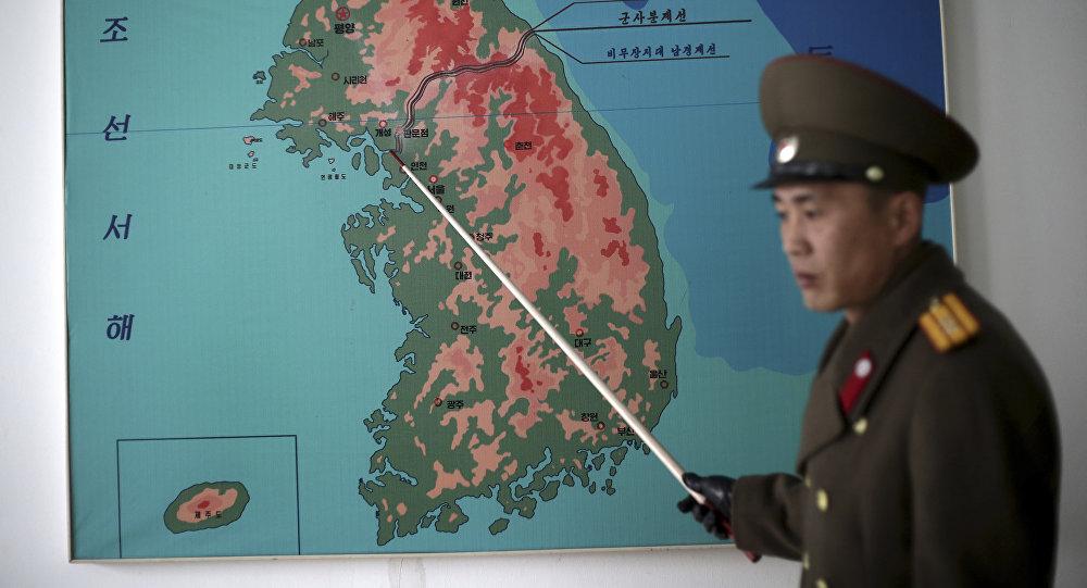 El mapa de la península de Corea