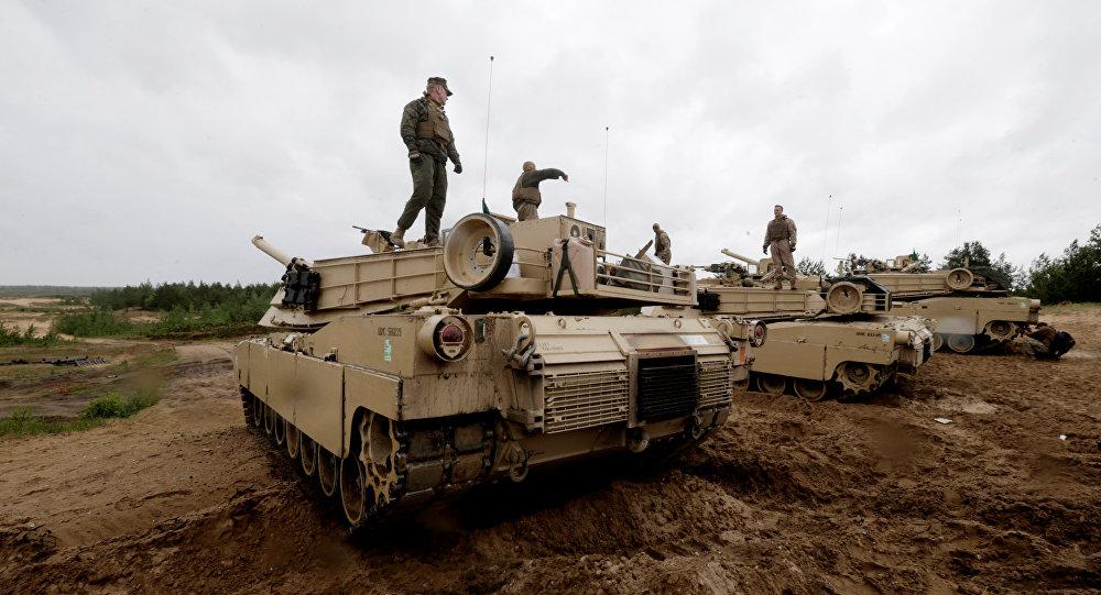 Las Fuerzas de la OTAN en Letonia (archivo)