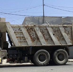 Camión del Daesh en Mosul