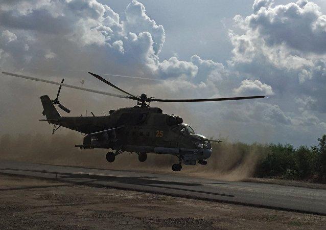 Un helicóptero ruso Mi-24 (archivo)