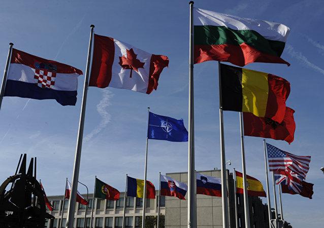 Banderas de las países miembros de la OTAN