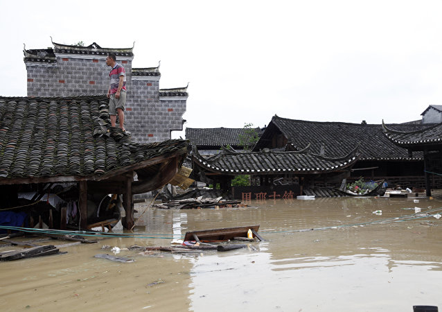 Inundación en la provincia china de Hunan