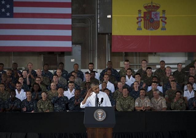 Barack Obama en la base de Rota, España
