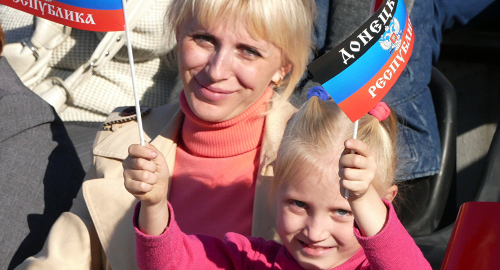 Residentes de la autoproclamada República Popular de Donetsk
