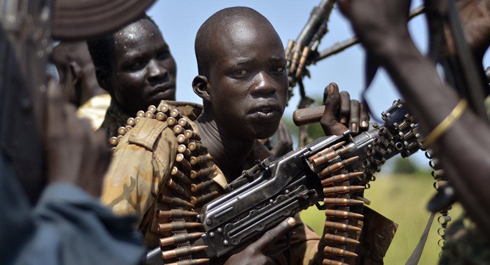 Los soldados gubernamentales del Sudán del Sur (archivo)