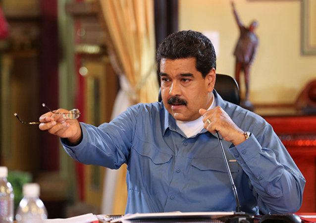 Nicolás Maduro, presidente de Venezuela, durante un Consejo de Ministros