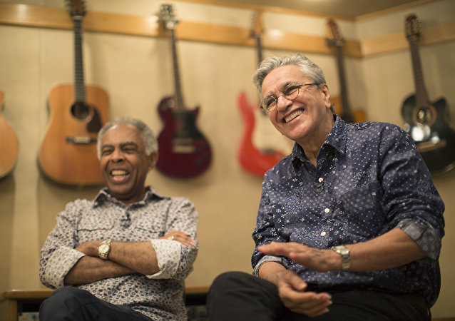 Gilberto Gil y Caetano Veloso, cantantes brasileños