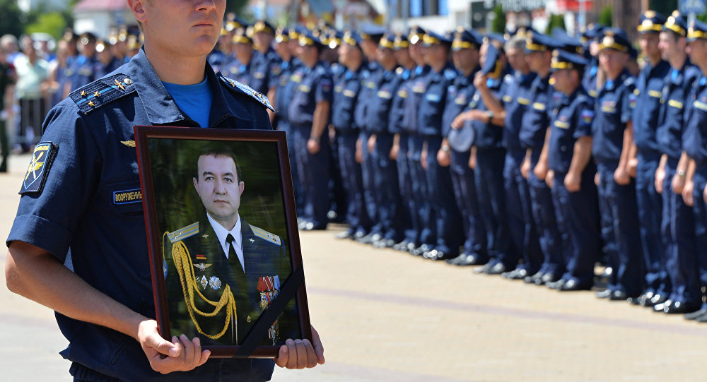 Homenaje a Riafagat Jabibullin, coronel que falleció en una misión de combate en Siria