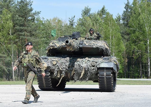 El tanque 'Leopard' del ejército alemán