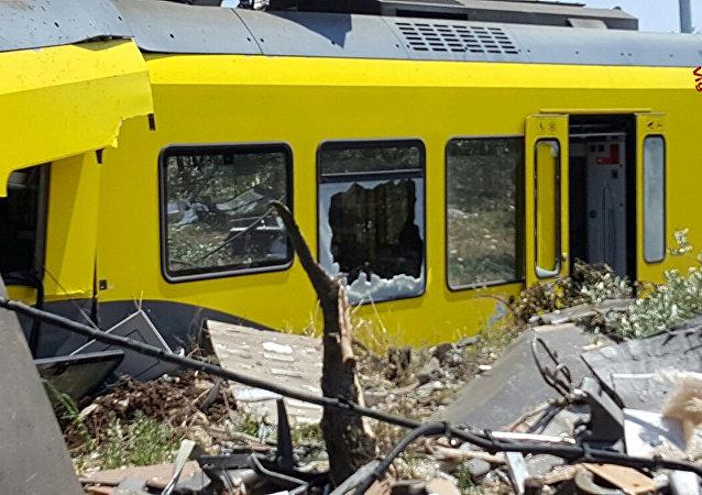 La colisión de trenes en Italia