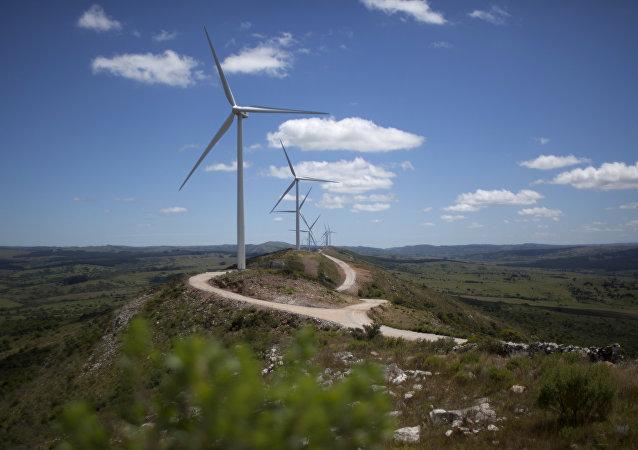 Un parque eólico en Uruguay (archivo)