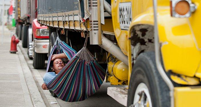 Un camionero en Colombia
