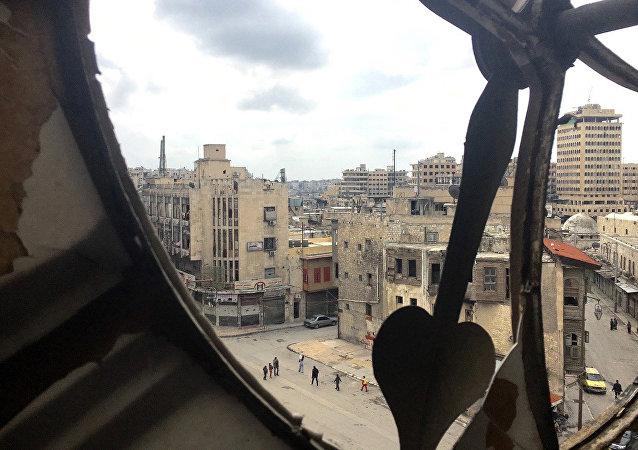 La ciudad antigua de Alepo, Siria