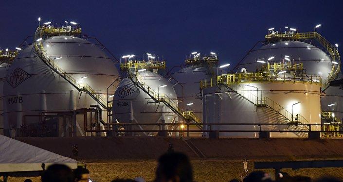 Una planta de gas boliviana