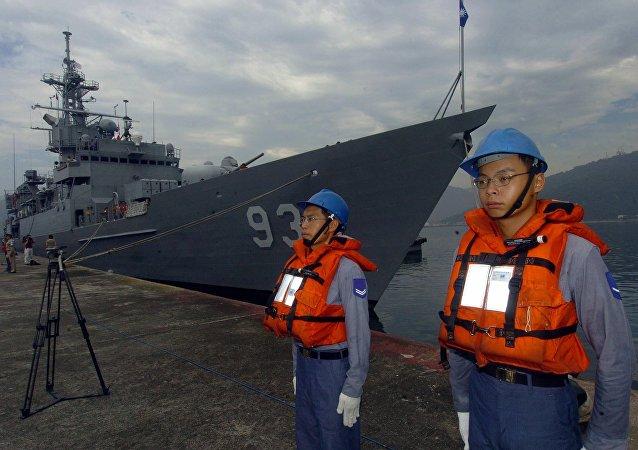 Los soldados de la Marina de Taiwán