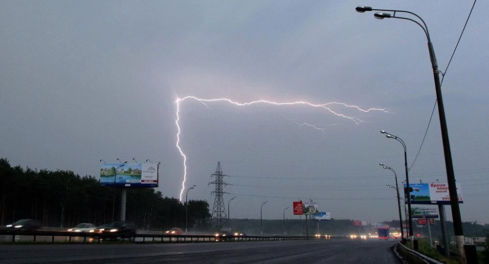 Moscú, azotada por una tormenta
