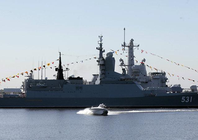 La corbeta rusa Soobrazitelniy en el Salón Naval Internacional