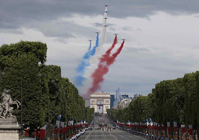 Celebraciones del Día Nacional de Francia en París