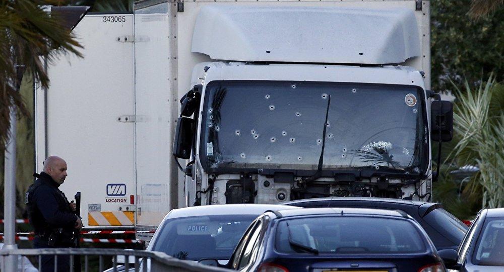El camión usado en el atentado en Niza