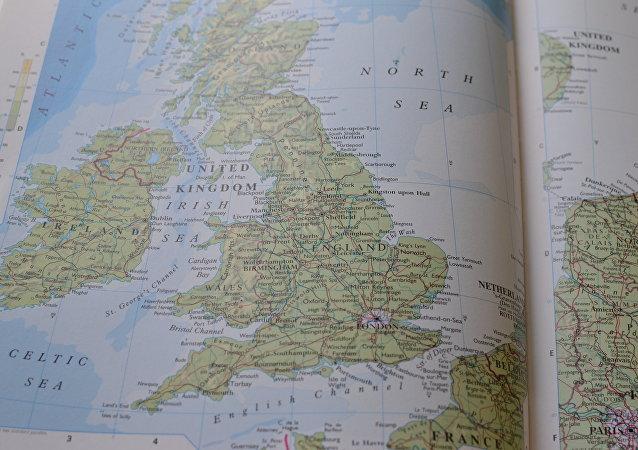 El mapa del Reino Unido