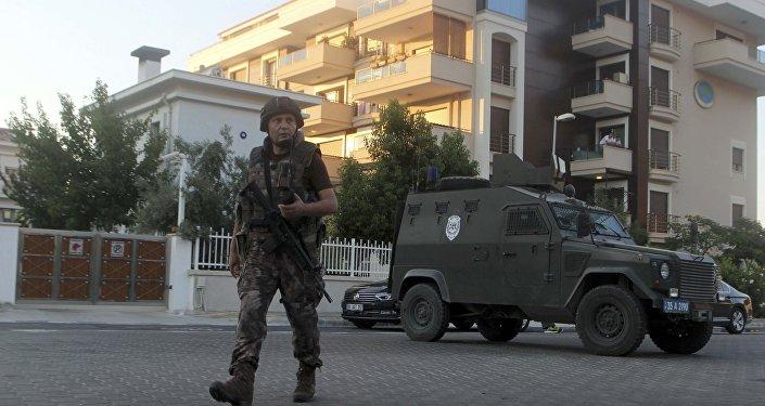 La policía turca