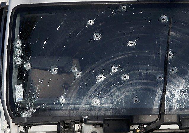 El camión que manejó el autor del atentado en Niza