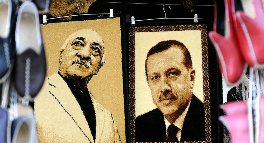 Los retratos de Erdogan y Gulen