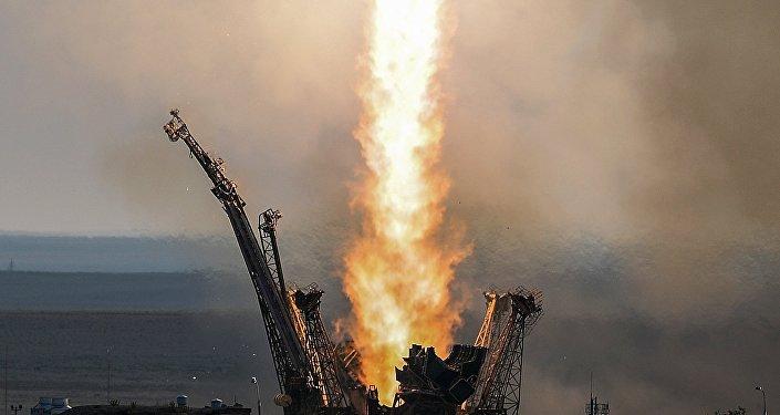 Lanzamiento del cohete-portador Soyuz (archivo)