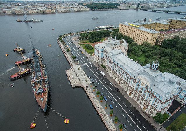 Símbolo de la revolución: el regreso del crucero Aurora a San Petersburgo