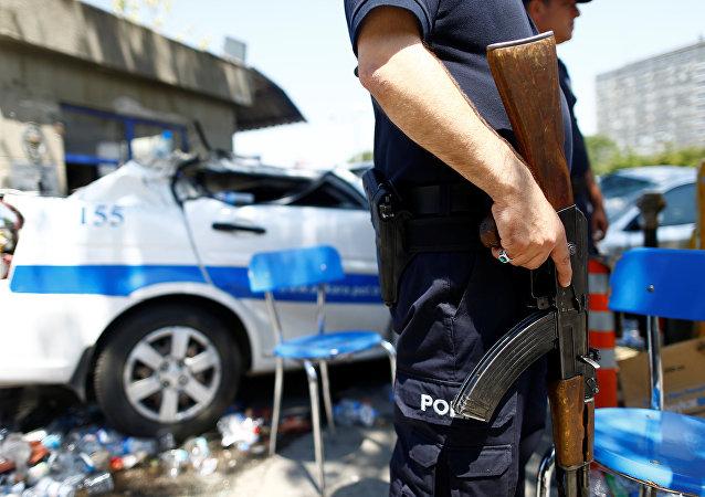Policía turco en Ankara