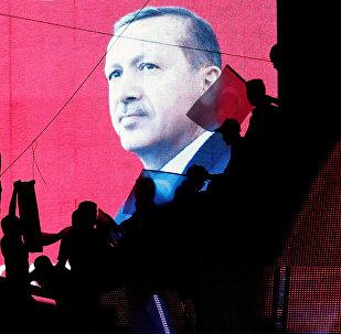 Los partidarios del presidente turco, Recep Tayyip Erdogan, en Ankara, tras la intentona golpista