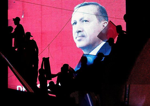 Los partidarios del presidente turco, Recep Tayyip Erdogan, en Ankara