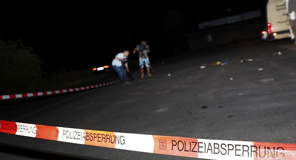 Policía local en el lugar del incidente
