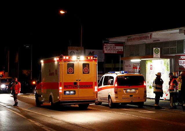 Los servicos de emergencia alemanes (archivo)
